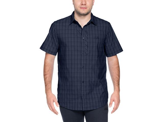 Jack Wolfskin Rays Stretch Vent Shirt Herren night blue checks
